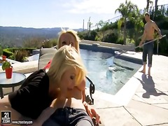 Monique alexander and horny pool guy ...