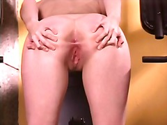 Xhamster Movie:Blonde with tiny tits works ou...