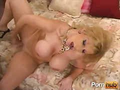 shaved, gaping, solo, blonde, booty, strip, mom, tease, ass, fingering, masturbation