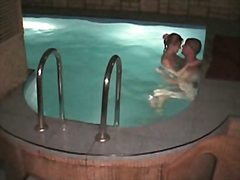Voyeur Hit Movie:Naked couple fuck in the swimm...