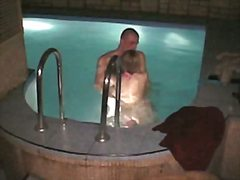 Voyeur Hit - Naked couple fuck in the swimming pool in steamy hidden porn xxx