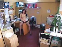 Thumb: Hidden cam brunette in...