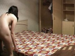 Voyeur Hit Movie:Chubby brunette on voyeur cam
