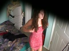 Voyeur Hit - Changing cloths on voyeur cam