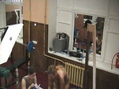 Blonde in gym on hidde... - Voyeur Hit