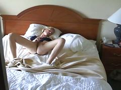 sleep, blonde, bedroom, voyeur