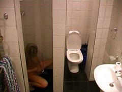 nude, toilet, spy, blonde, hidden