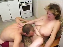 mature, boy, first, mom, kitchen