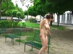 Alpha Porno Movie:Busty naked girl walks through...