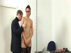Spanked young teacher