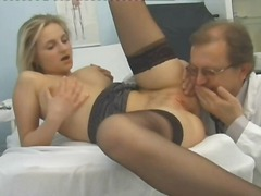 Doctor examines her pu... video