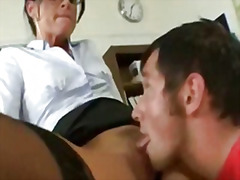 milf, pussylicking, oral, glasses