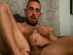 BoyFriendTV - Hairy stud with tattoo...