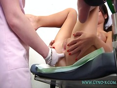 Busty girl gyno exam