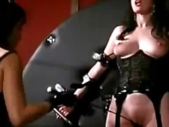 Sun Porno Movie:Busty girl in corset tied to w...