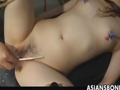 Yobt Movie:Asian serf has vagina filled b...