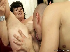 Ugly grandma getting fucked hard by r...