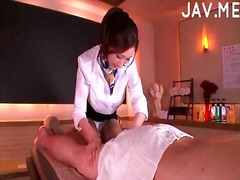 Big tits japanese gets face cummed