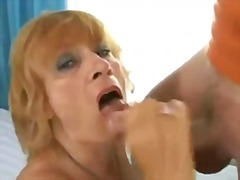 mature, blonde, hairy, cumshot