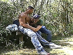 Beefy Muscle Dudes Fuck Outdoors