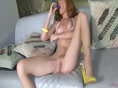 Heather carolin remoevs her see-throu...