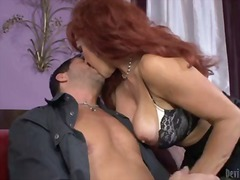 Red-haired milf sexy vanessa is his
