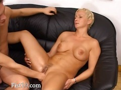 Blonde mature having c... video