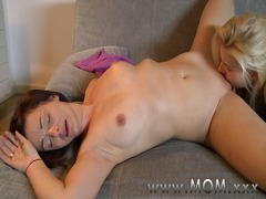Mom lesbian mature girlfriends make love