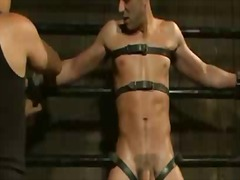 BoyFriendTV Movie:Bound to a metal device gay as...