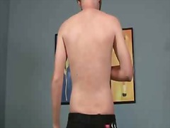 Cute gay guy gets naked and masturbates for the cam