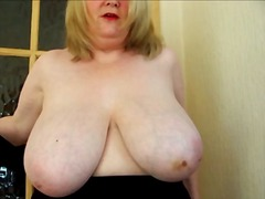 Huge titted mature in ... video