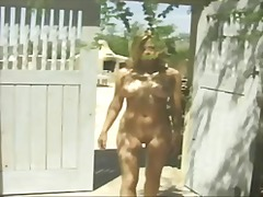 Horny girl outside ben... video
