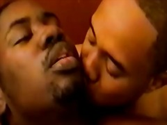 Hard gay black hunks love sucking big black cock