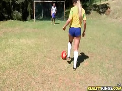 Latina strips off soccer uniform and ...