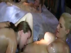 Rushes lesbian act in ... video
