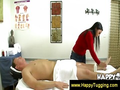 Good looking asian giving a good massage