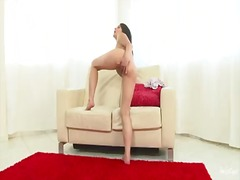 masturbation, brunette, connie
