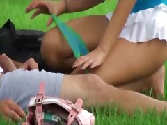 Naughty teen serves a ... video