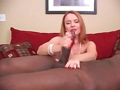 interracial, cock, black, handjob,