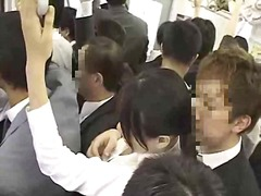 Asian woman molested i... video