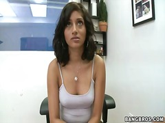 Amateur brunette babe ... video