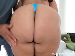Lovely latina bbw sofia rose rides bi...