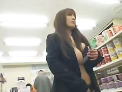 Japanese sex with big jumping tits in...