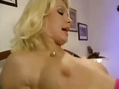 German blonde dp and facial