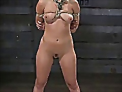 Vporn Movie:Bound blonde ass whipped and f...
