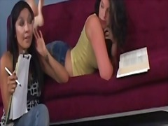 Lesbo bbw seducing each other in a video compilation