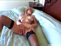 Blonde mature granny f... video