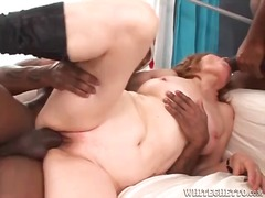 interracial, threesome, mature,