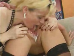 Blonde licking a cream... preview