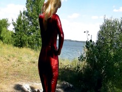 Outdoors in spandex ca...